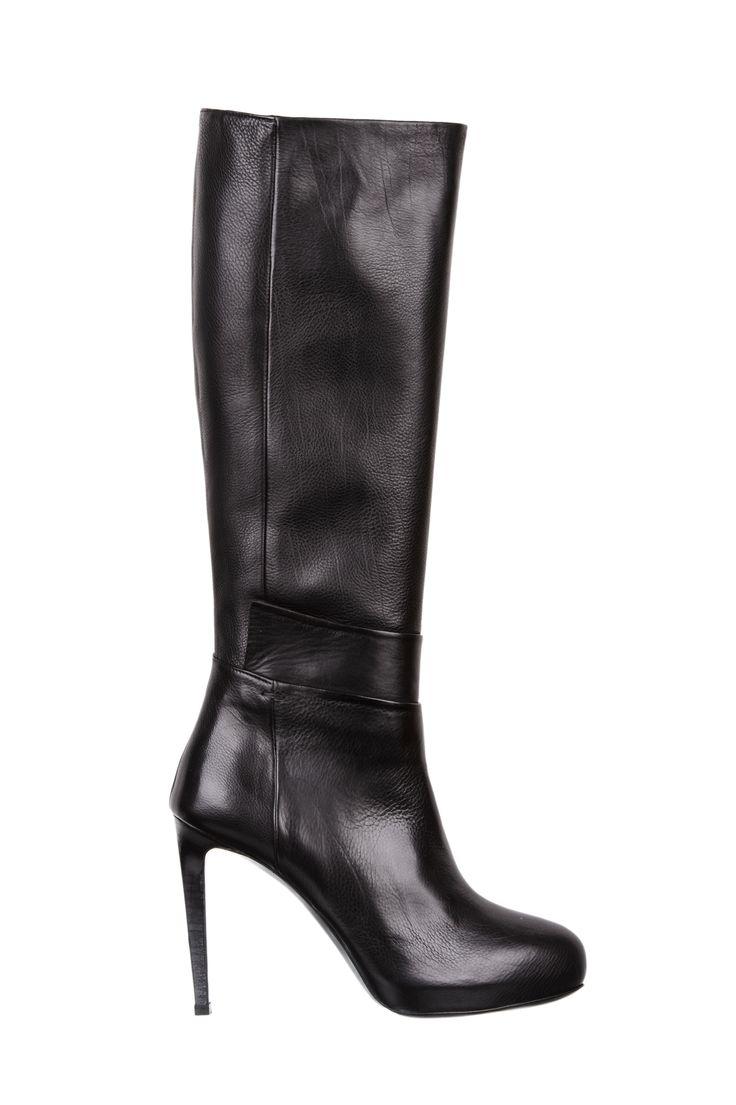 high hells black leather boots - fiorifrancesi