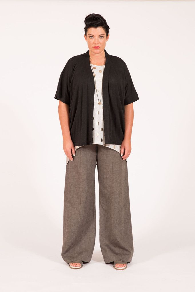S16021 Kimono Cardi Black Multifit