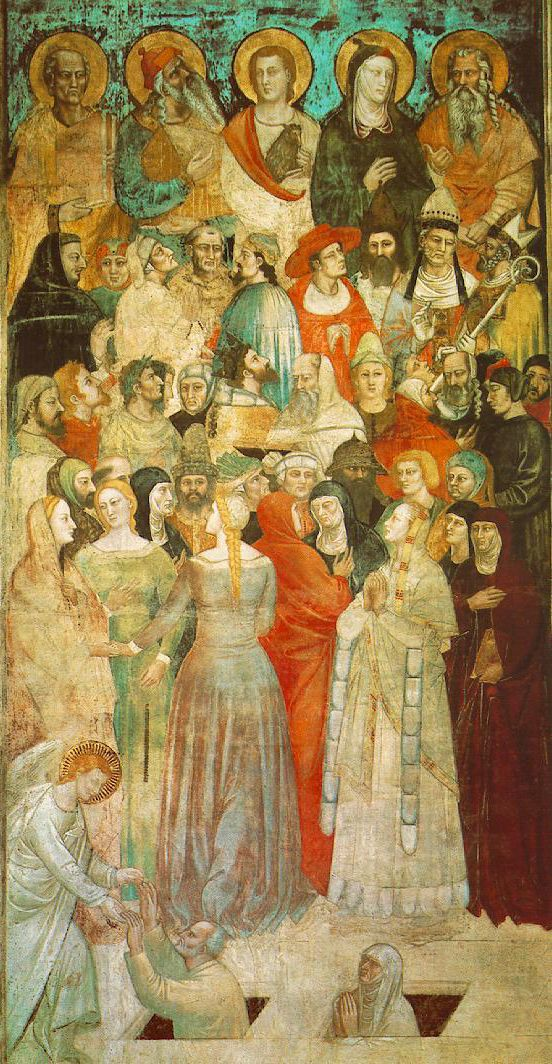 "Nardo di Cione - Detail from ""Last Judgment"",1350s"
