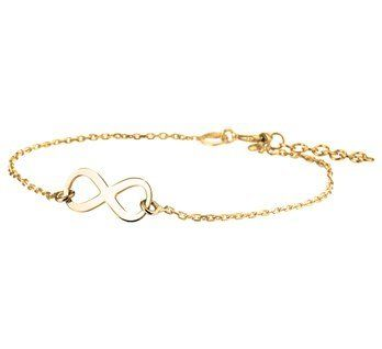 Very cute gold plated silver infinity bracelet. For € 19,95. - Goldberg Juweliers http://www.goldbergjuweliers.nl/en/silver-infinity-bracelet-gold-plated.html