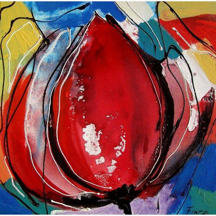 tulpen schilderen acryl - Google zoeken
