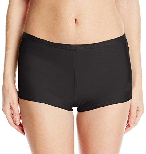 Ebuddy Women's Goddess Boyleg Bikini Bottom,Black 12. Material: 93% Nylon, 7% Spandex; High Quality. Boyleg bikini bottom with full-seat coverage and partial-leg coverage. Hand Wash; Elastic closure. Package: 1*Bikini Bottom. Details Flat Measurement Size Information Please Check Following Description.