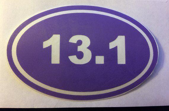 Vinyl 26 2 13 1 5k 10k 3 1k Marathon Half Marathon Decal Sticker Any Color Combo Cellphone Yeti Car In 2021 Vinyl Yeti Car Chicago Cubs Logo
