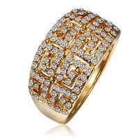 KR489 링 18 천개 골드 아름다운 반지 18 천개 골드 인기있는 보석 반지 도매 가격 무료 배송 qbryibkc