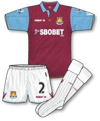 West Ham home kit for 2010-11.