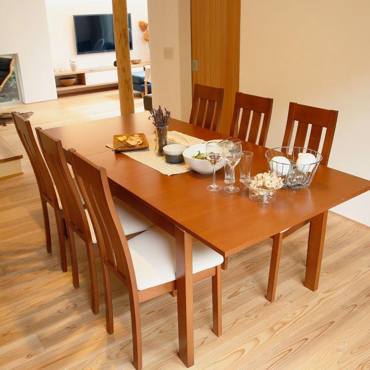ダイニングテーブルセット | ダイニング | 家具・インテリアの総合通販 ... 6人掛け伸縮木製ダイニングテーブルセット(7点セット)