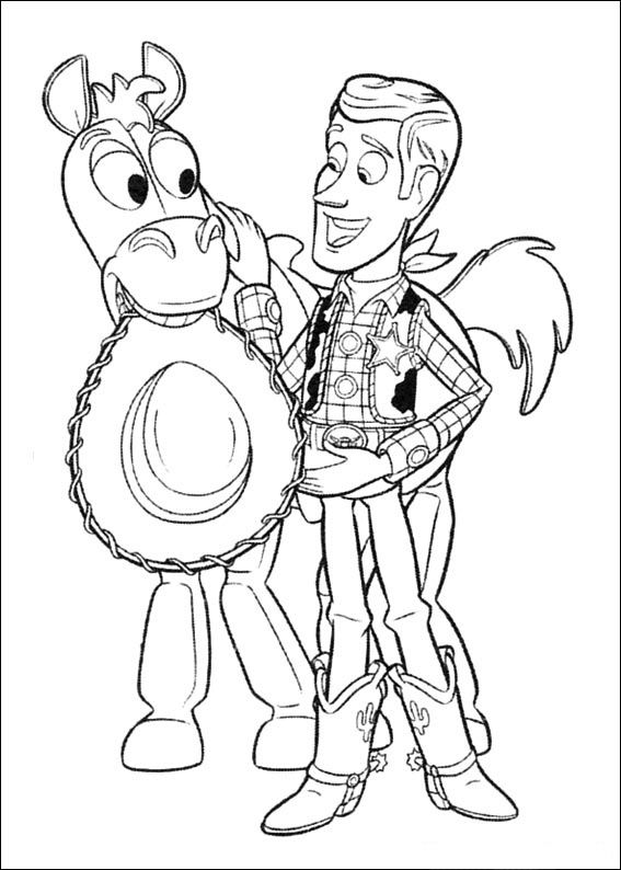 27 best coloring pages 18 (toy story) images on Pinterest Adult - new coloring book pages toy story