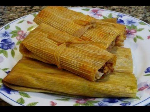 ▶ Tamales Rojos y Verdes de Pollo y Tamales de Queso Receta Familiar - YouTube