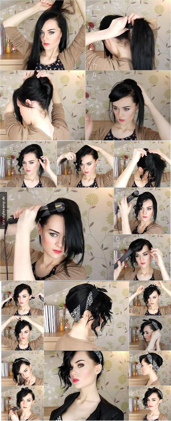 Bandana Updo Hairstyle