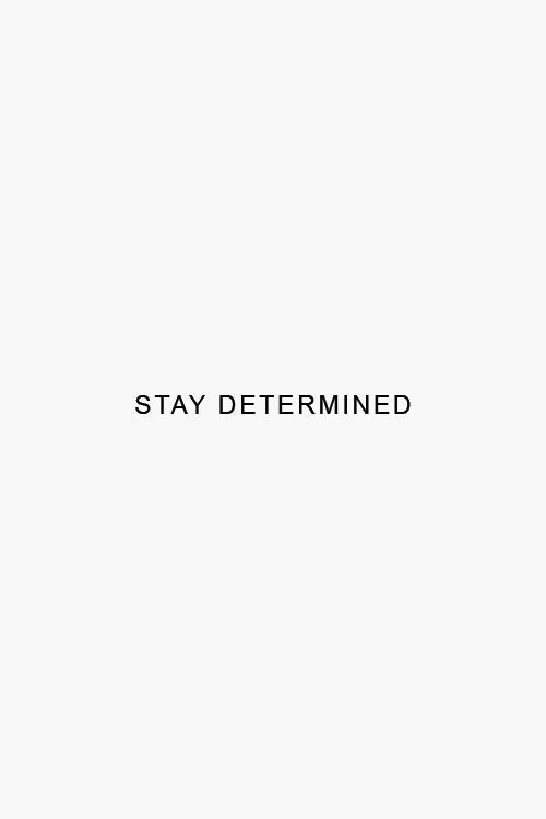 inspirational daily quotes // stay determined
