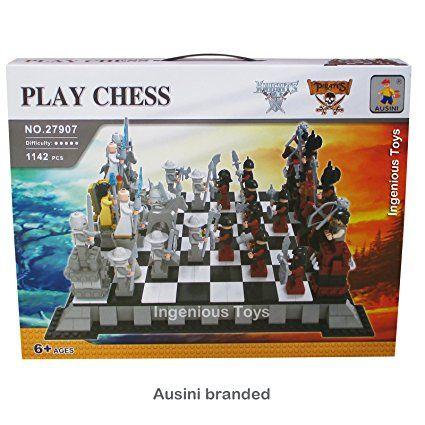 Ausini Chevaliers vs Pirates Set D'échecs / large coffret cadeau 1142pcs NOUVEAU #27907: Amazon.fr: Jeux et Jouets