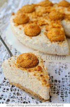 Cheesecake agli amaretti dolce freddo senza cottura vickyart arte in cucina
