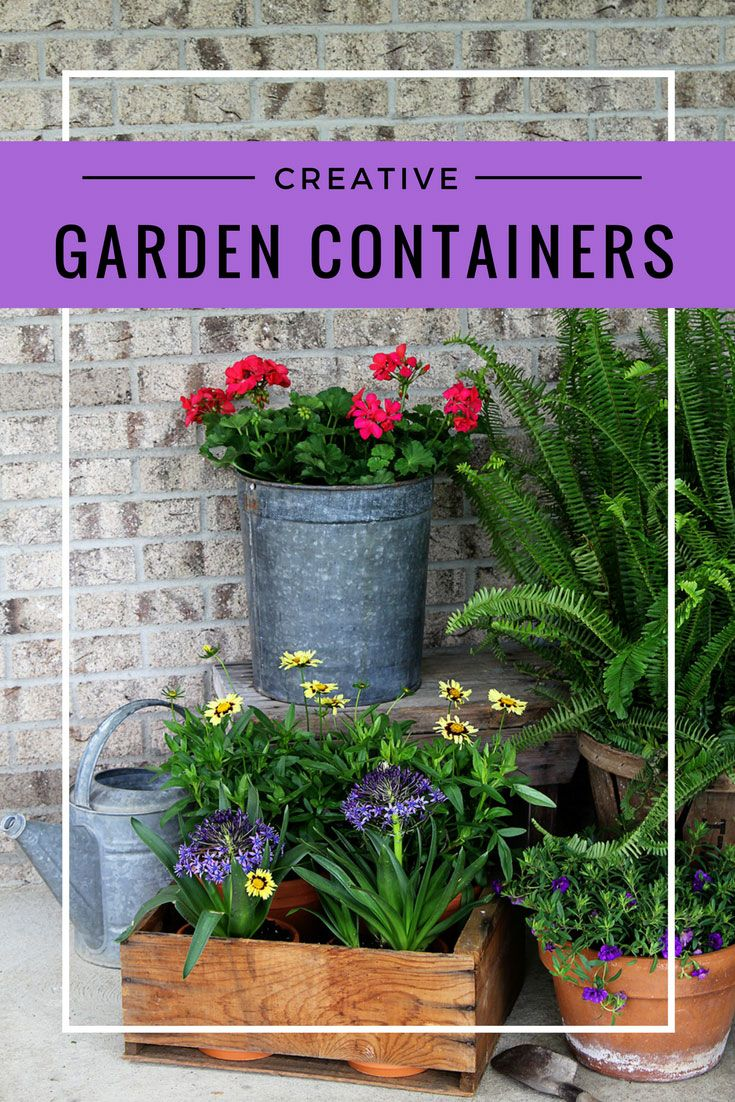 The big list of self watering planters for stylish gardening anywhere - Ditch The Urns Creative Garden Containers For Your Porch