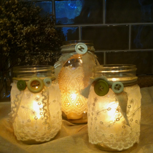 More cool things to do with your mason jars - since I didn't get to can all my peaches!