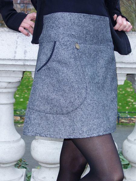 Miniröcke - Rock Tweed 'Agatha' gefüttert* auch knielang - ein Designerstück von Duebbelde bei DaWanda