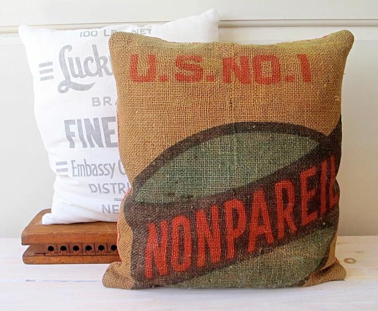 25 best ideas about potato sacks on pinterest get the for Burlap sack decor