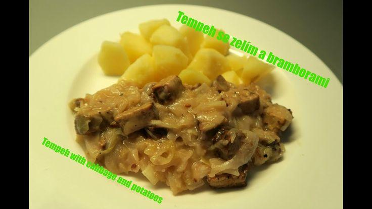 Tempeh se zelim a bramborami | Tempeh with cabbage and potatoes | vegan ...