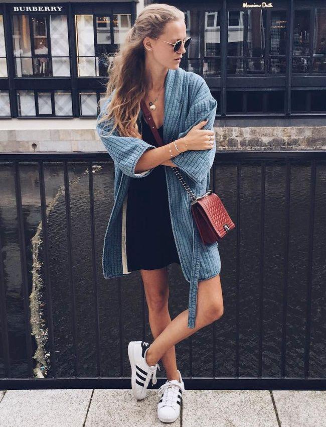 Le kimono en denim, une bonne alternative au trench ! (instagram Marie von Behrens)