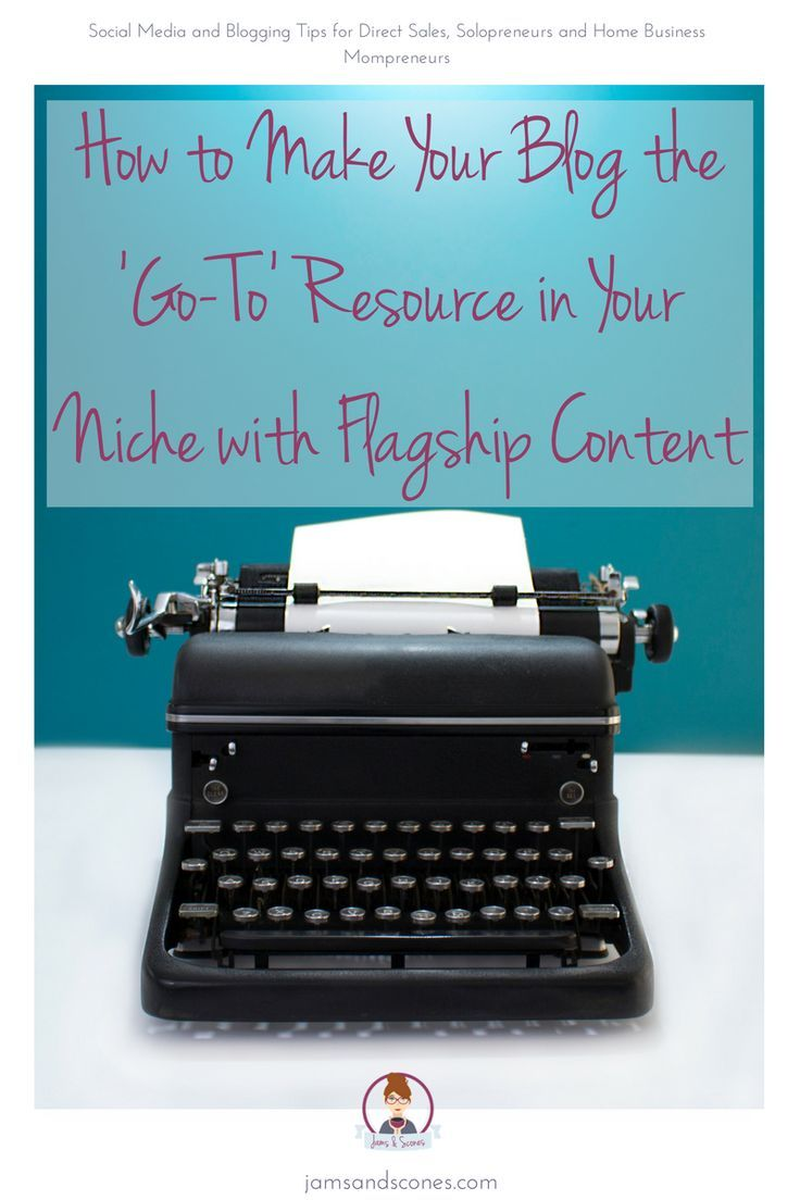 Make your blog the go to resource in your niche using flagship content. Also known as cornerstone content, it's about creating a solid foundation that helps to make you the 'go-to' resource in your niche.