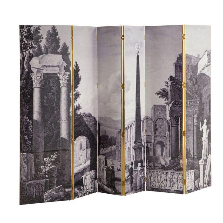 """Grand paravent """"Maison Lacroix"""" face """"Arles"""". Beautiful folding screen with a Parisian feel. Christian Lacroix - Lacroix X Roche Bobois - Art de vivre"""