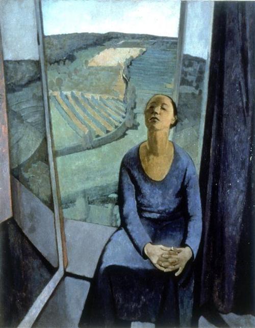 Felice Casorati ~ Daphne at Paravola (1934)