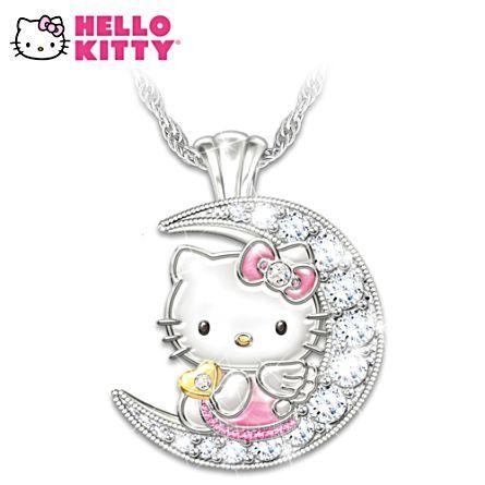 Hello Kitty Moon Crystal Necklace