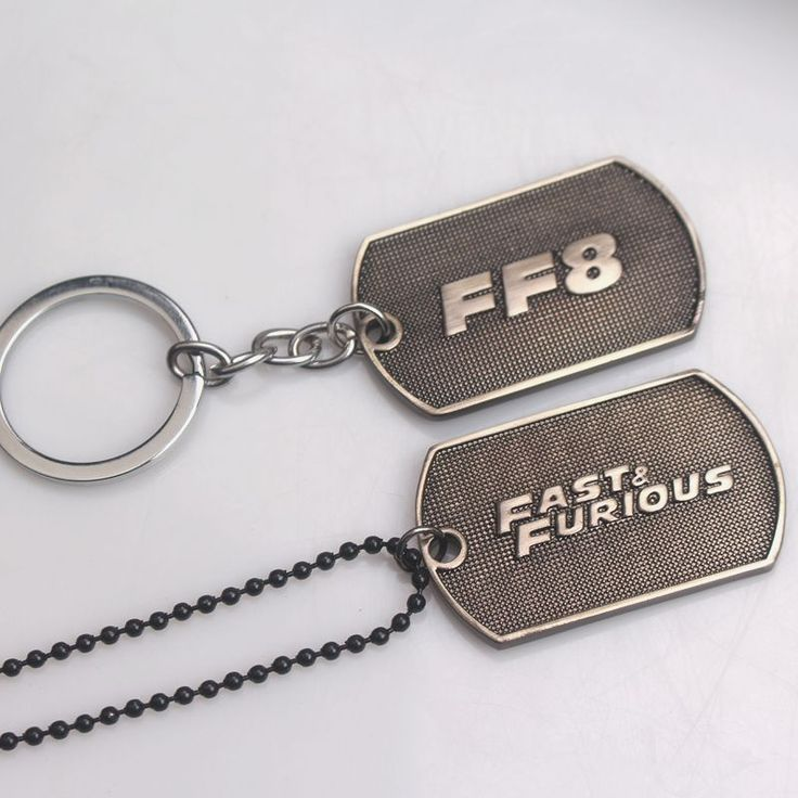 rongji jewelry Newest Movie The Fast and the Furious Keychain FF8 letter logo keyring for Mother's Day Gifts 2style #Affiliate