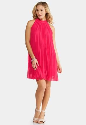 e4553c0231 Cato Fashions Plus Size Pink Cosmo Pleated Swing Dress  CatoFashions ...