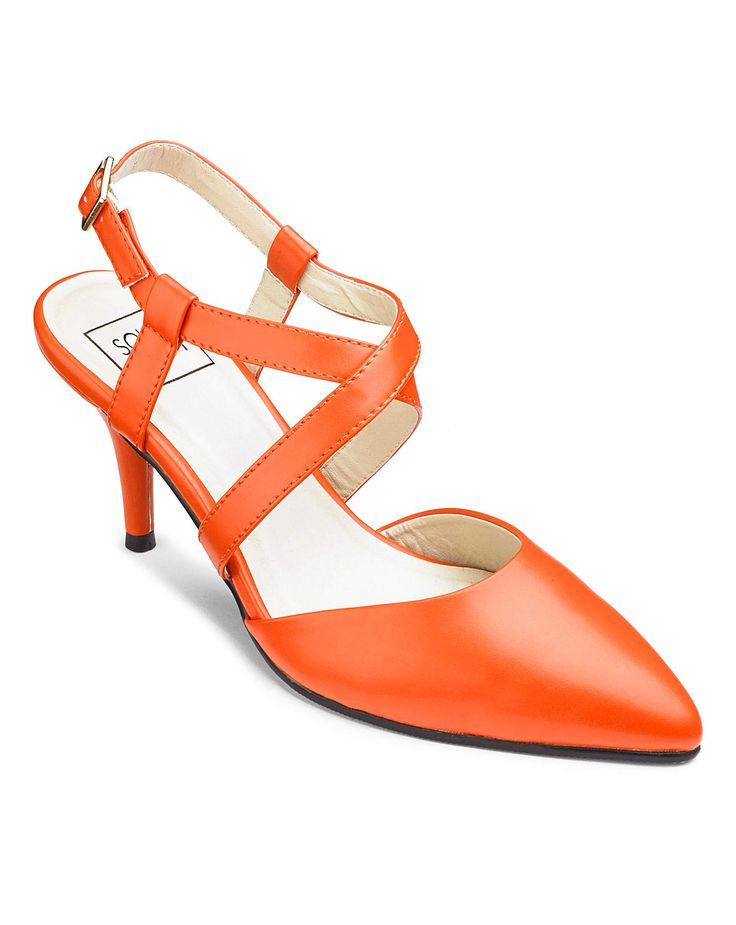Sole Diva Cross Strap Courts EEE Fit | J D Williams