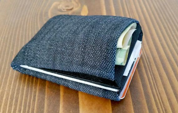 Limited Edition Denim Minimalist Wallet Womens by NeroWallet