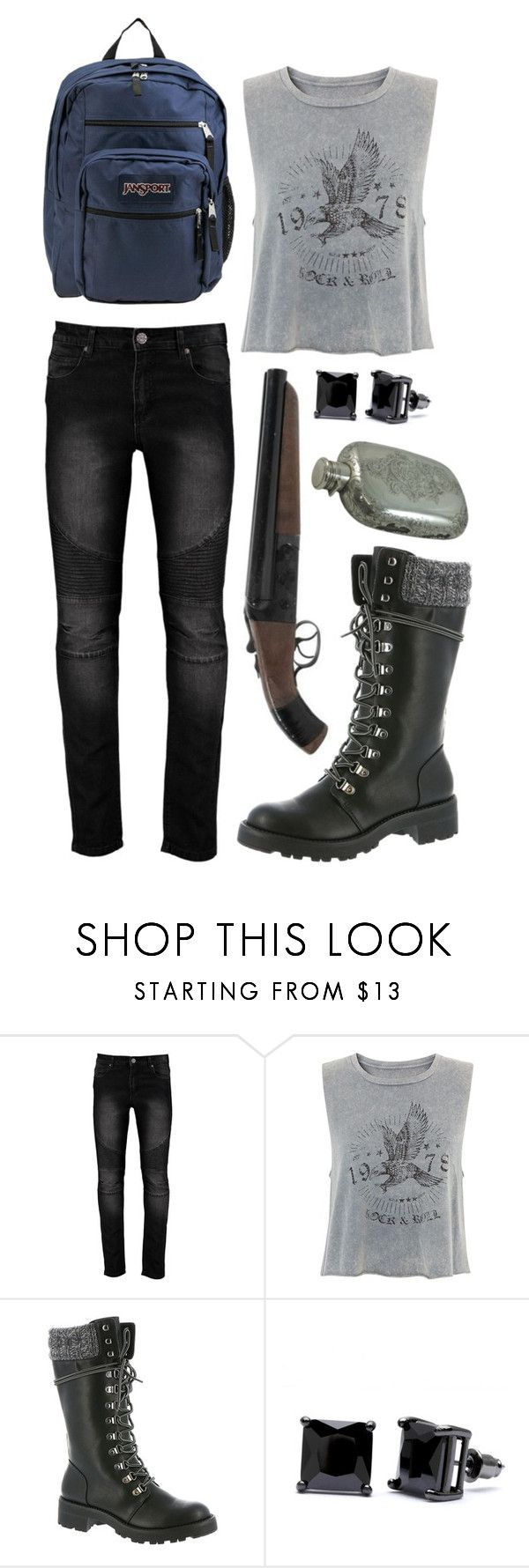 """""""Hunting Outfit #4"""" by silvercookies ❤ liked on Polyvore featuring MIA, Simon Frank and JanSport"""