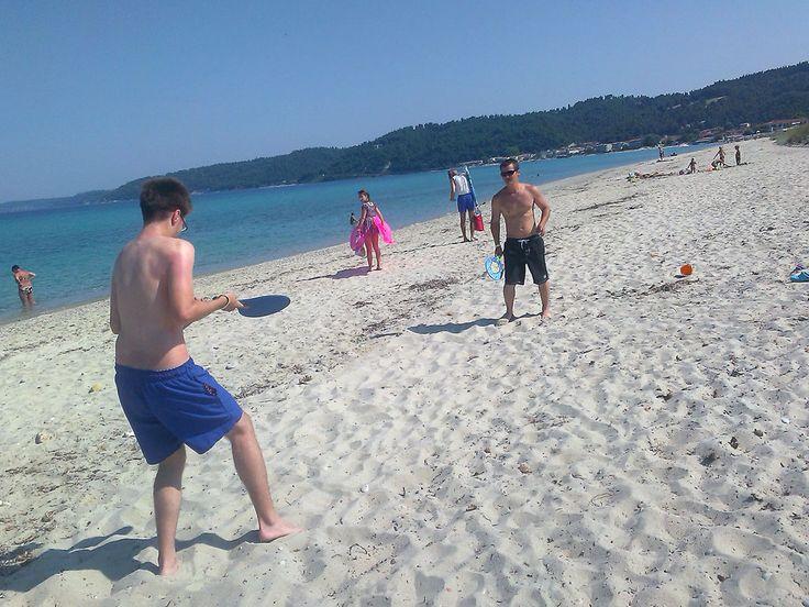 Beach Tennis is easy and fun to play !!  #Fourka #Halkidiki #Greece #travel #beach