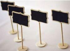 4 x en bois tableau noir tableau noir avec support place table de mariage numéro signe uk