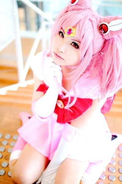 Chibiusa from Sailor Moon in her super outfit.