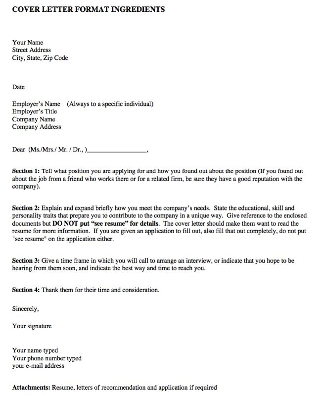 Best Example Resume CV Images On Pinterest - Format of a cover letter