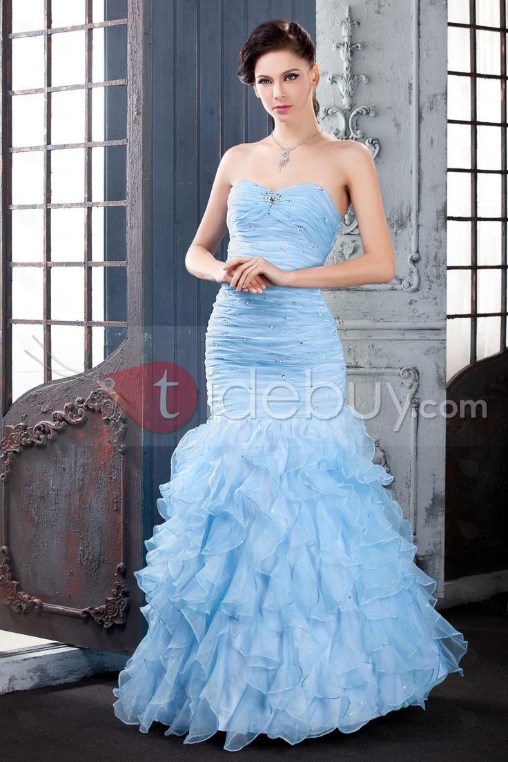 Blue mermaid wedding dress weddings pinterest for Wedding dress in blue