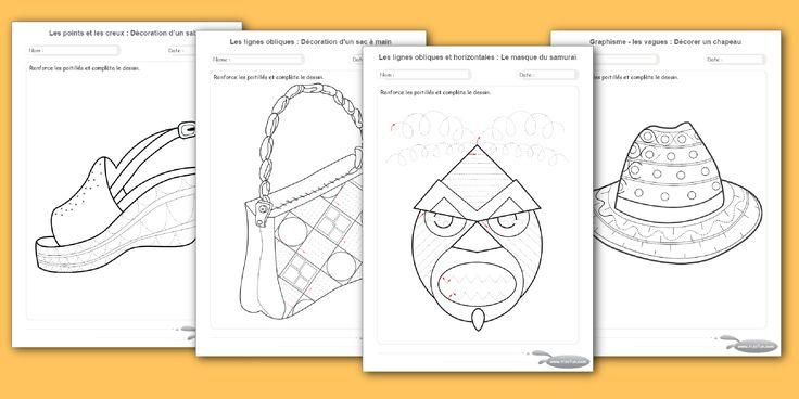 Exercices maternelle motricité fine par le dessin a imprimer