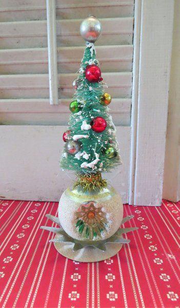 Image of Soarkly Vintage Bottle Brush Tree Christmas Ornament