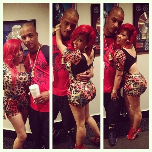 Tiny & TI! Her booty in that dress tho! She is giving me life, motivating me  to work out more and get sexier for my husband! He loves me as I am, but I mean you can never be too sexy!