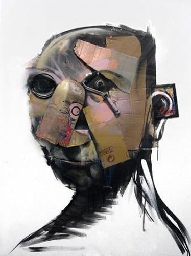White Self Portrait  Adam Neate