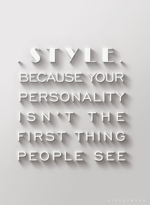 The purpose of style.