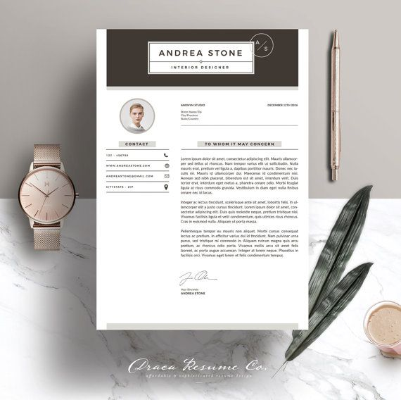 ✚ WELCOME TO DRACA RESUME!  We create template that help you stand out from the crowd with any hiring manager and increase the possibility to get your dream career . These templates were created using modern designs, elegant styles, and sophisticated to make it easy-to-read layouts. We wish you good luck for your job interview!  -----------------------------------------------------------------------------------------------------  Download this template for a professionally design. Its easy…