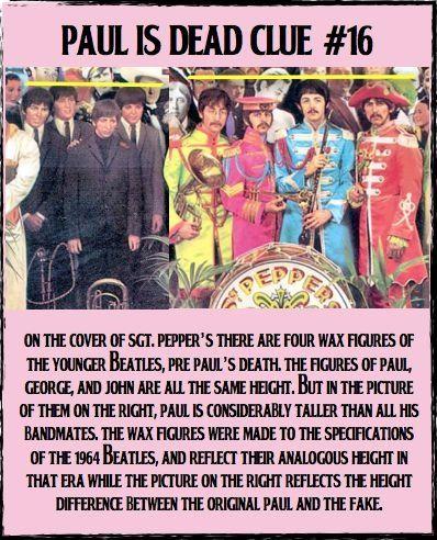 Paul is dead clue #16.
