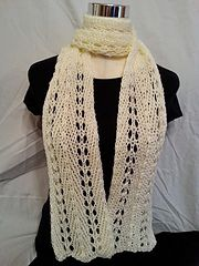 Ravelry: Loom Knit Light and Lacey Loom Scarf pattern by Faith Schmidt