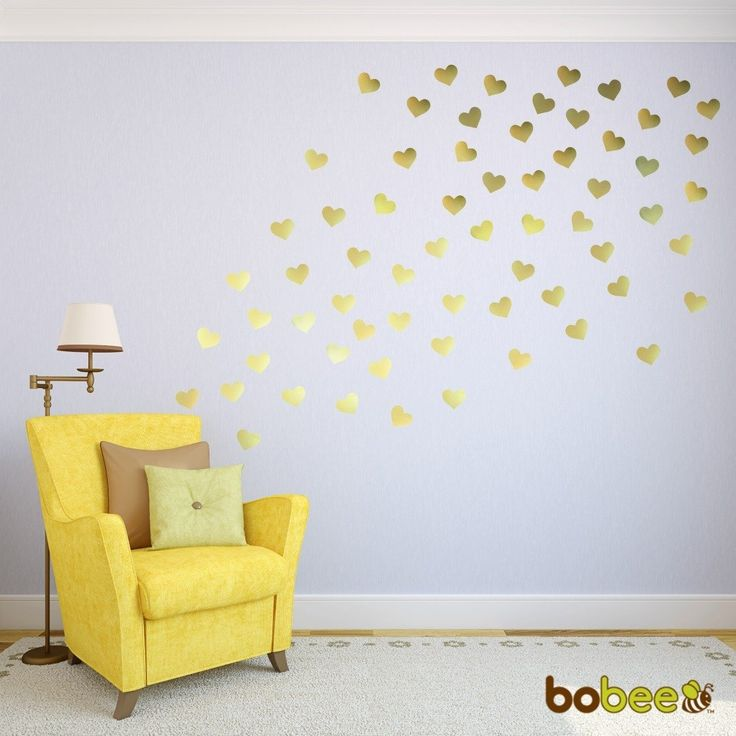 16 best Gold Heart Wall Decals images on Pinterest | Gold ...