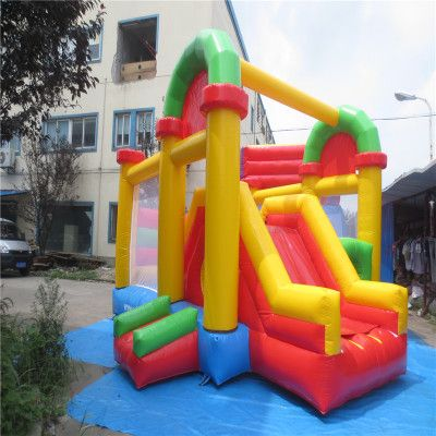 Elegant house hold inflatable bouncer trampoline with CE UL blower