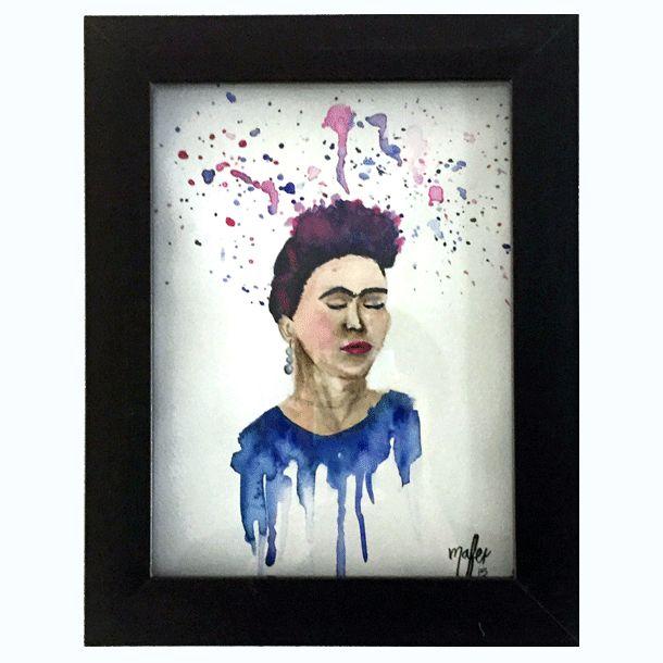 Frida - Watercolor #Art3Mas