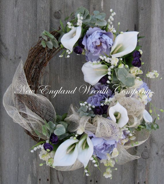 Elegant Spring Garden Wreath by NewEnglandWreath