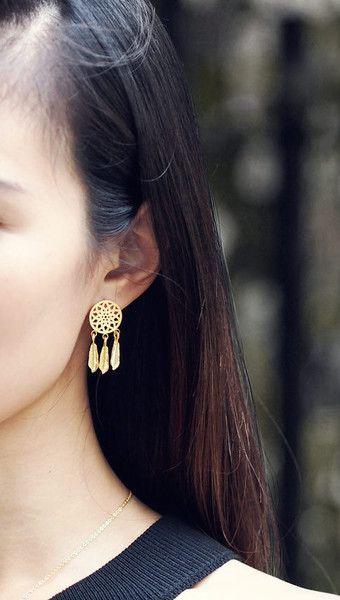Ohrhänger - Traumfänger Ohrringe Silber - ein Designerstück von menatreasure bei DaWanda