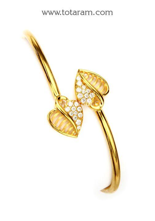22K Gold Bracelet With Cz